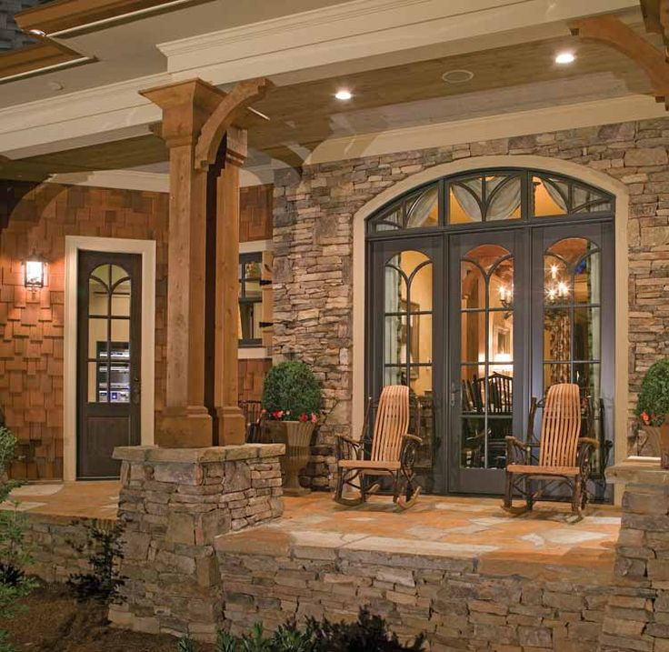 rustic house exteriors | Country Home Designs: Exciting Country Home Designs Exterior Stone ...