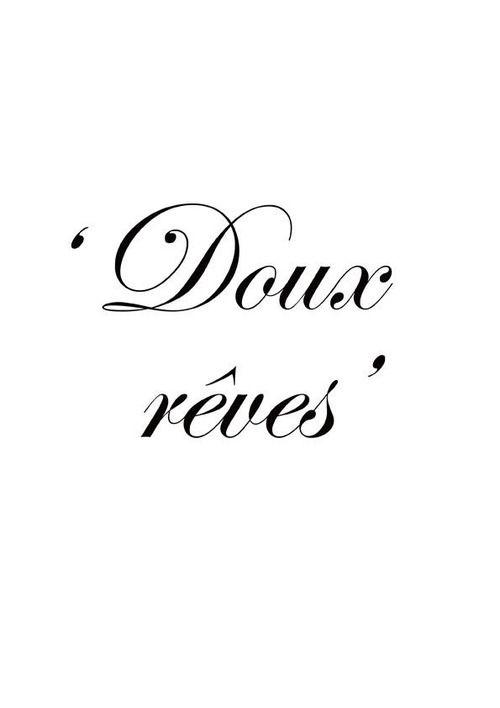 Spanish: Dulces sueños/ English: Sweet dreams