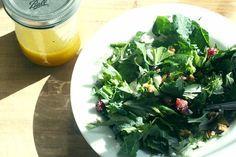 Purple Mizuna & Dinosaur Kale Salad
