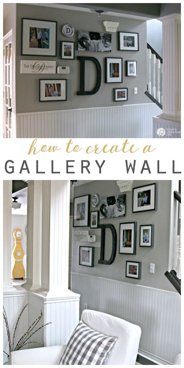 How to Hang a Picture - The Easy Way. Create a picture wall or gallery wall with these easy steps. This hanging picture frame tip will save you time and stress. Click the photo to visit TodaysCreativeLife.com