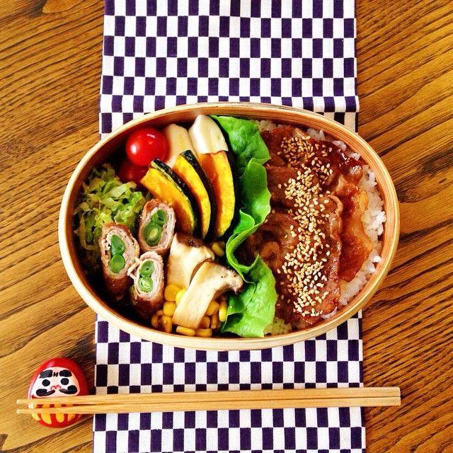 豚肉の焼肉弁当  #お弁当#曲げわっぱ#旦那弁当#お昼ごはん #cook#eat#japan#bento#lunch#lunchbox #わっぱ#豚肉#焼肉#ガッツリ