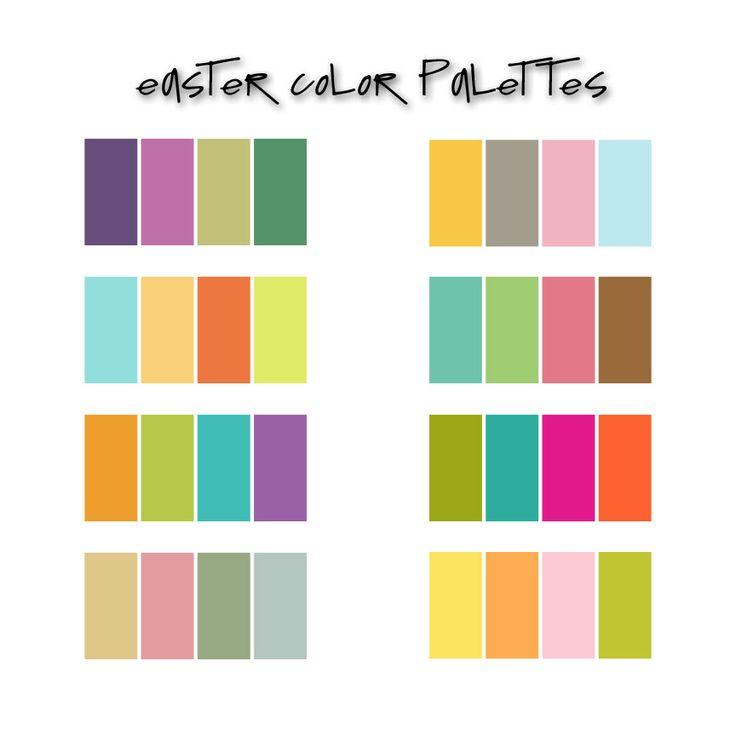 Easter Palettes Colors Pinterest Easter Color