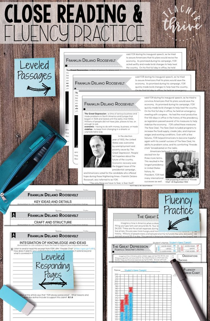 Close Reading And Fluency Practice In Grades 4 8 Two Leveled Nonfiction Reading Passages And Student Responding Pages W Close Reading Fluency Practice Fluency [ 1125 x 736 Pixel ]