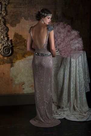 Eliza Jane Howell Bridal Gowns. Art Deco inspired beaded bridal gowns, for understated vintage glamour.Available at The Tailor's Cat, Cambridge 01223 366700