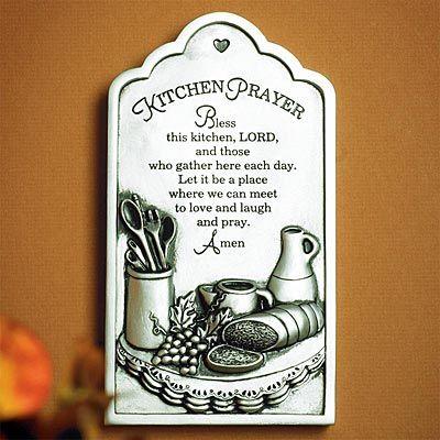 """Kitchen Prayer"" Plaque on SonGear.com"