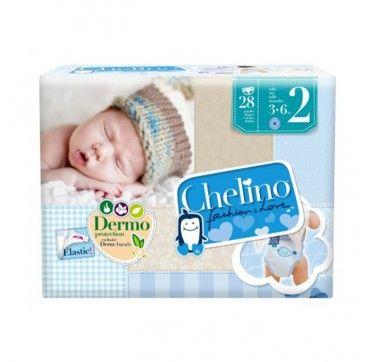 Chelino Fashion&Love Pañales para niños. Tallas desde recién nacidos hasta 28kg. de peso, 28 unidades.