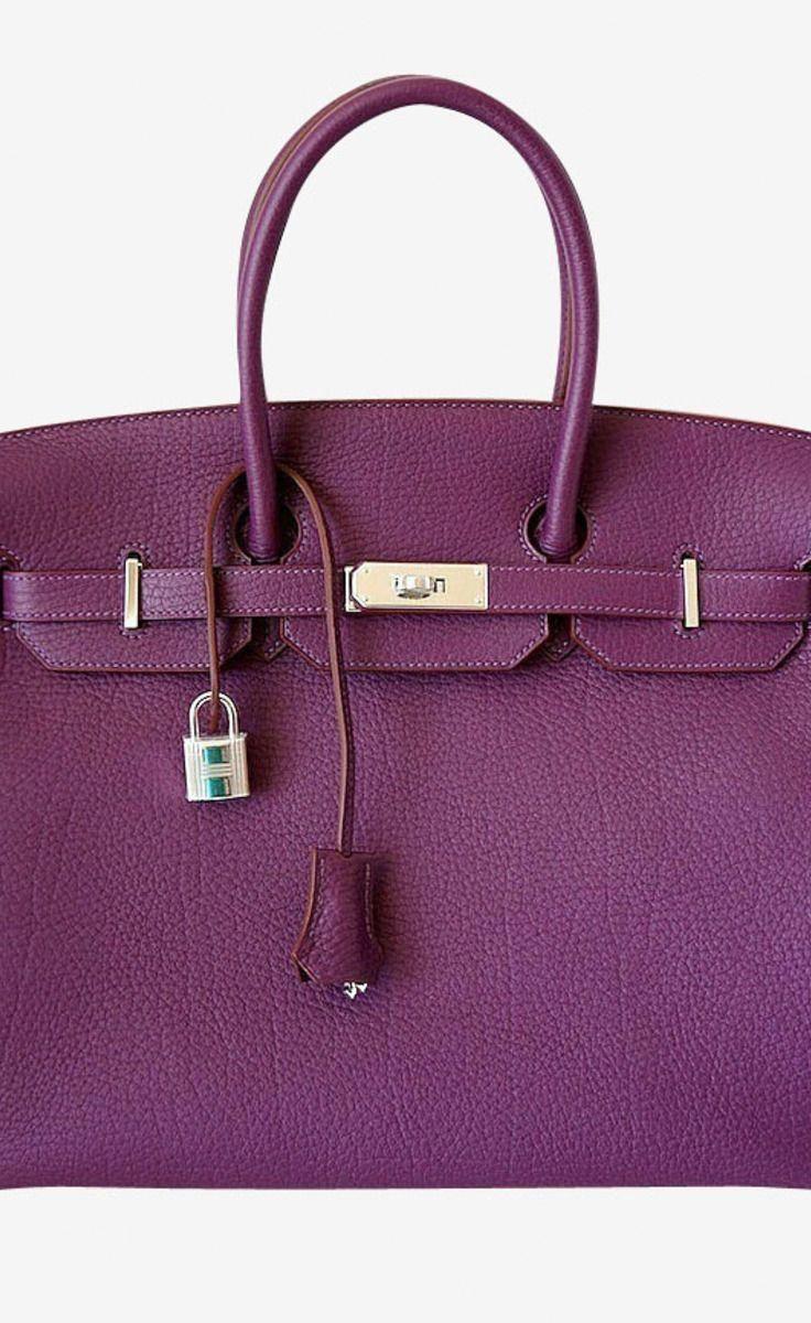 c6d09b57a372 Hermes Hermes Birkin 35 Bag Cassis Fjord Leather Palladium Hardware Tote   Hermeshandbags