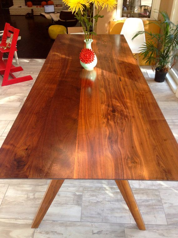 Mid Century Inspired Sputnik Solid Walnut Dining Table, Large Size On Etsy,  $1,995.00