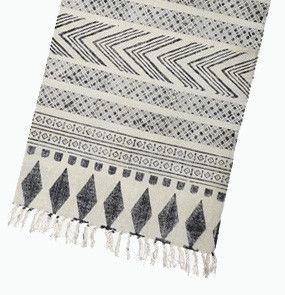 This beautiful cotton runner is handmade in a stunning charcoal grey with a striking pattern. Perfect for hallways and entries.Size: 70 x 240 cmMade from 100% cotton.PRE-ORDER - email-info@mintinteriordesign.com.au - Stock due NOV 14