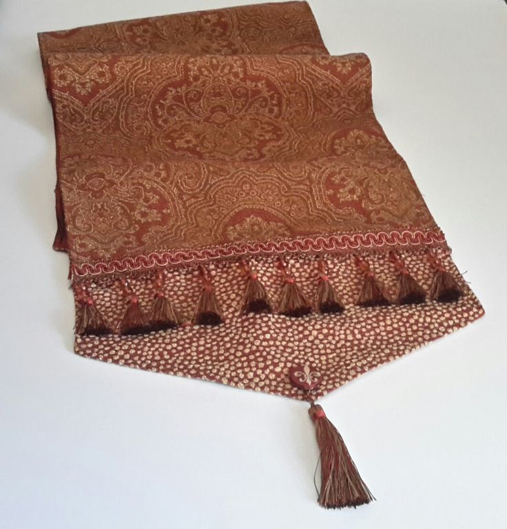 Elegant Table Runner, Brick Red Table Runner, Rust Table Runners, Luxury Table Runners, Table Runners, Size 64 x 15 by CVDesigns on Etsy