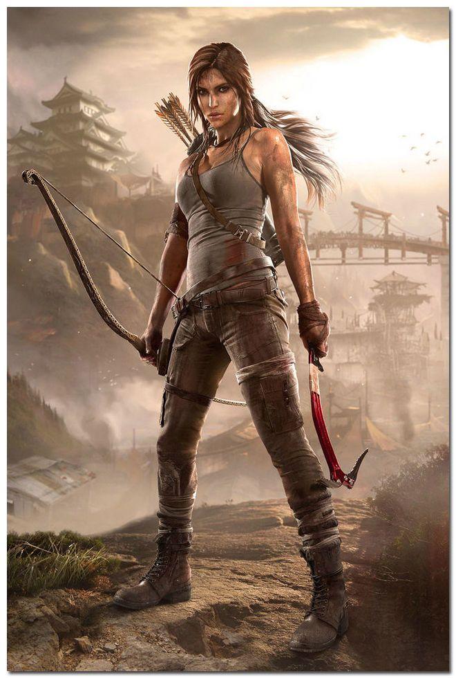 Rise of The Tomb Raider Video Game Silk Poster 13x20 24x36 inch Lara Croft 011