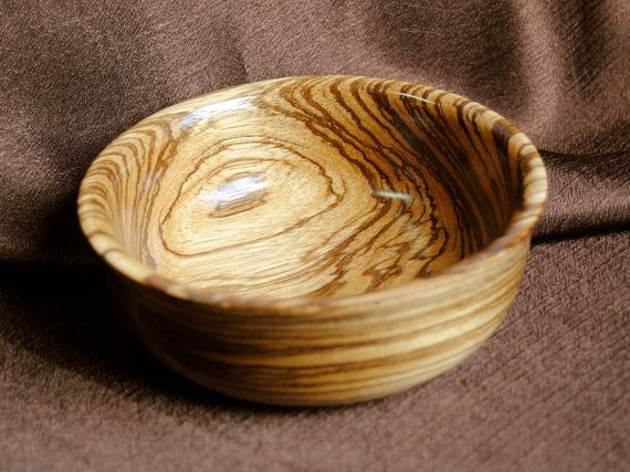 Handturned bowl in African zingana by MidAmericaWoodworks on Etsy, $35.00