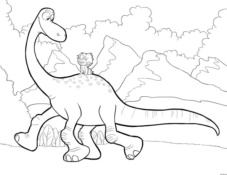 Disneys The Good Dinosaur Coloring Pages Sheet Free Disney Printable Color Page