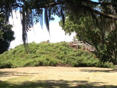 Indian Mound in Santee National Wildlife Refuge near historic Summerton, S.C.