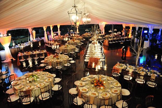 Tent wedding- {Over a tennis court!}  Image courtesy of: Mark Pennington