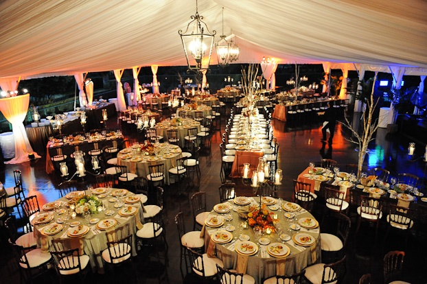 Tent wedding- {Over a tennis court!}  Image courtesy of: Mark Pennington