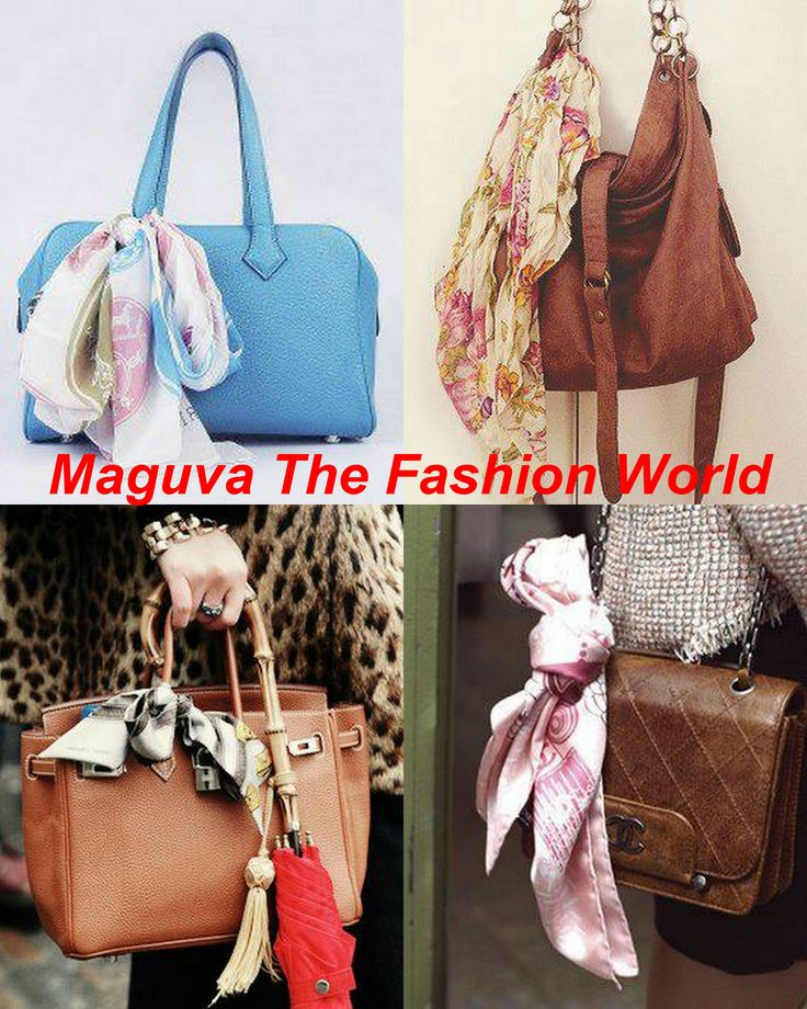 Stylize your bag with a cute scarf!~