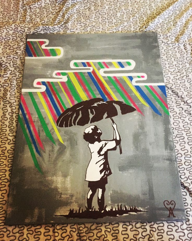 Canvas art ,painting ,color rain , place your favorite graffiti on the wall , acrylics colors canvas size 80x50cm