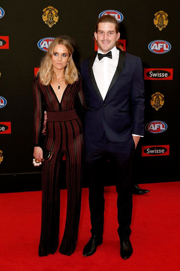 Josh Bruce, St Kilda in the Defoe Navy Tux: http://www.mjbale.com/mens-suits/tuxedos/defoe-navy-tux-22614