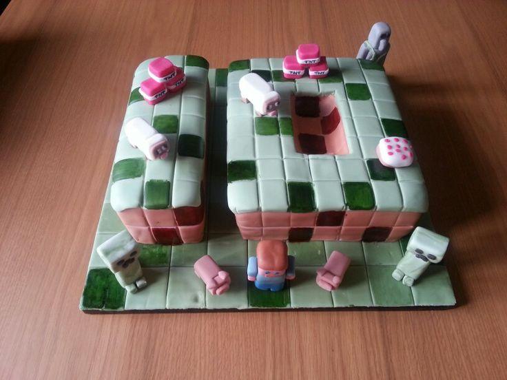 Minecraft Number 10 Birthday Cake Ideas Pinterest