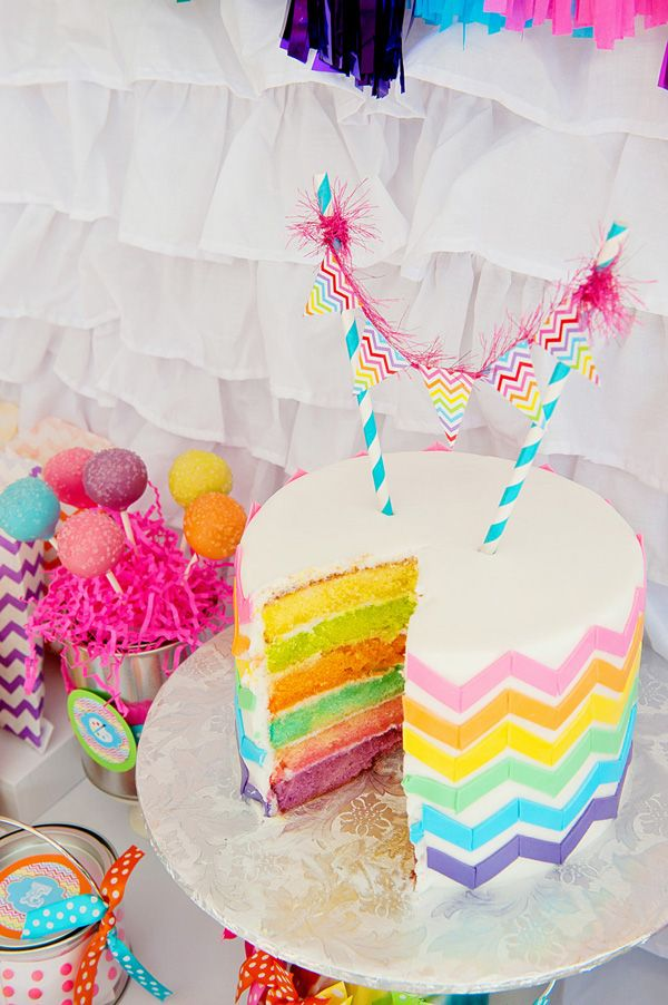What a great idea for an occasion cake! This would put a smile on the face of any party girl or boy :)