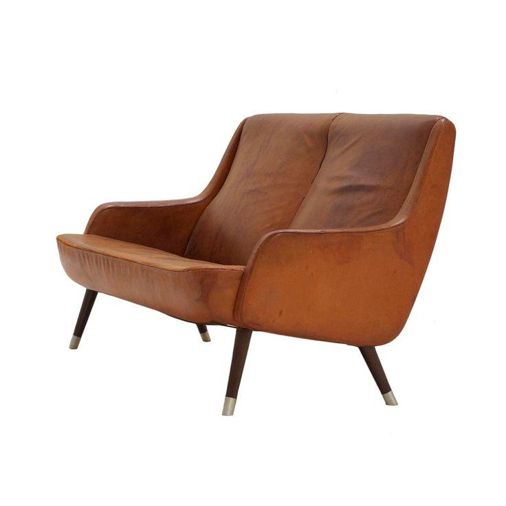 Frits Hansen Cognac leather sofa