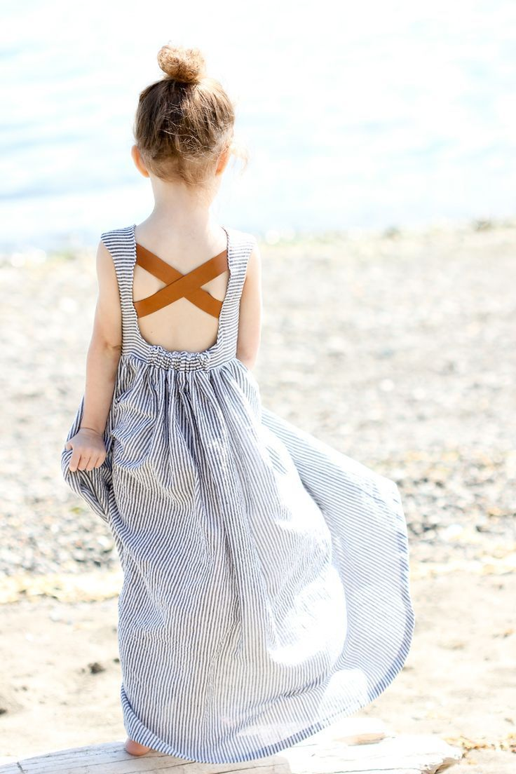 Leather and Seersucker Sundress for little girl, absolutely adorable!