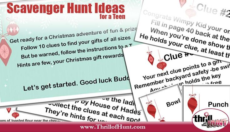 Original Scavenger Hunt Ideas For A Teen