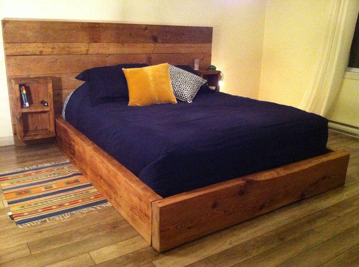 Base de lit en gros bois d'oeuvre | Base de lit ...