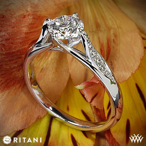 Ritani Modern Tulip Diamond Engagement Ring with a 0.830ct A CUT ABOVE