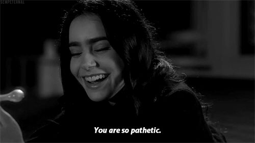black and white stuck in love gif