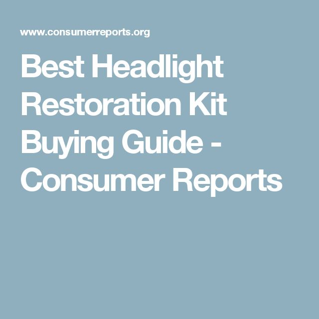 Consumer Buying Guide: 17 Best Ideas About Headlight Restoration On Pinterest