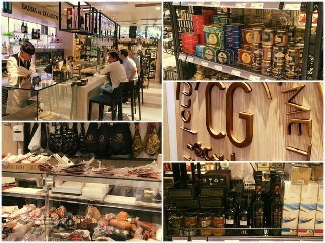 Varuhuset El Corte Inglés i Barcelona. Här kan man köpa allt från strumpor till smink till kastruller till smycken till märkeskläder som Burberry, Tommy Hilfigher och Levi's. Längst ned i varuhuset ligger en vanlig supermarket där man kan handla mat, flera matställen och en avdelning som heter El Corte Gourmand.