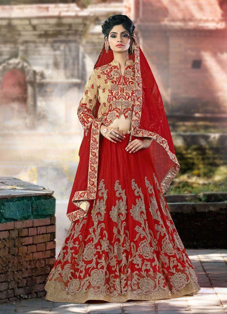 Bridal Traditional Pakistani Lehenga Bollywood Indian Ethnic wear Choli Wedding