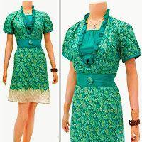 Dress Batik | jual batik murah, Batik modern, batik sarimbit, baju batik Dress Batik Solo KODE : DB 3153