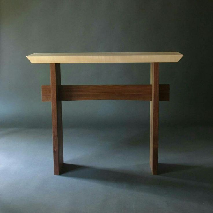 Hall Console: Narrow Entry Table, Small Hallway Tables, Narrow Side Table   Handmade Wood Furniture  STATEMENT COLLECTION