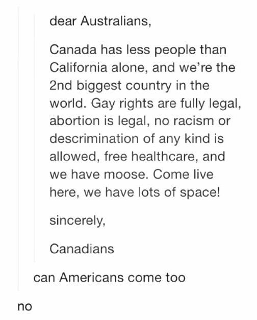I could point out that america is a continent that includes canada and the usa. Just sayin.