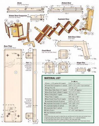 #911 Wooden Accordion Wall Lamp Plan - Other Woodworking Plans and Projects
