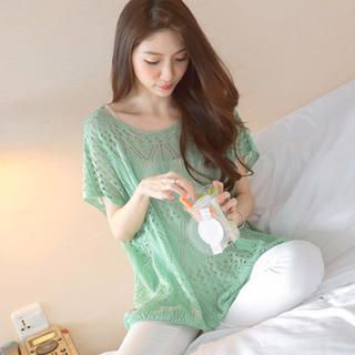 Batwing-Sleeve Open-Knit Top from #YesStyle <3 Tokyo Fashion YesStyle.com.au