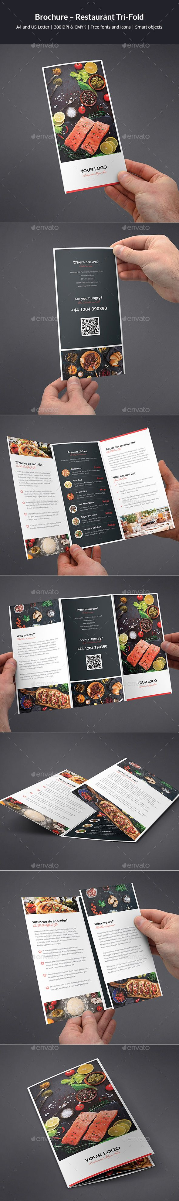 Brochure �20Restaurant Tri-Fold by artbart This is a brochure for many applications. You can easily edit and adapt to your business, as well as bar, bistro, fast food, resta