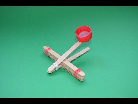 Como hacer una catapulta | Catapulta Casera | Armas de papel - YouTube