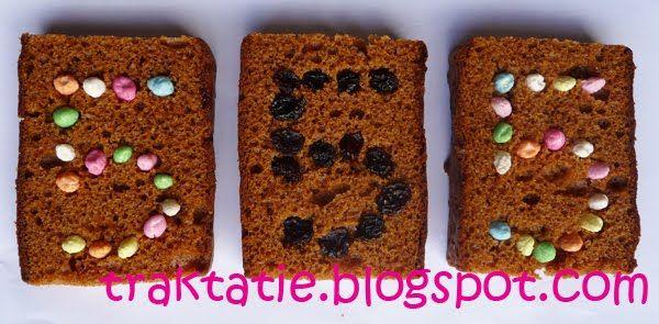 Ontbijtkoek met gepofte rijst snoepjes! Ziet er leuk uit en is gezond.