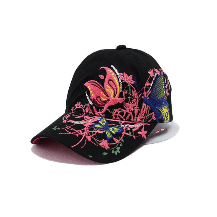 butterfly embroidery baseball caps hat outfits tumblr fashion trend black cap