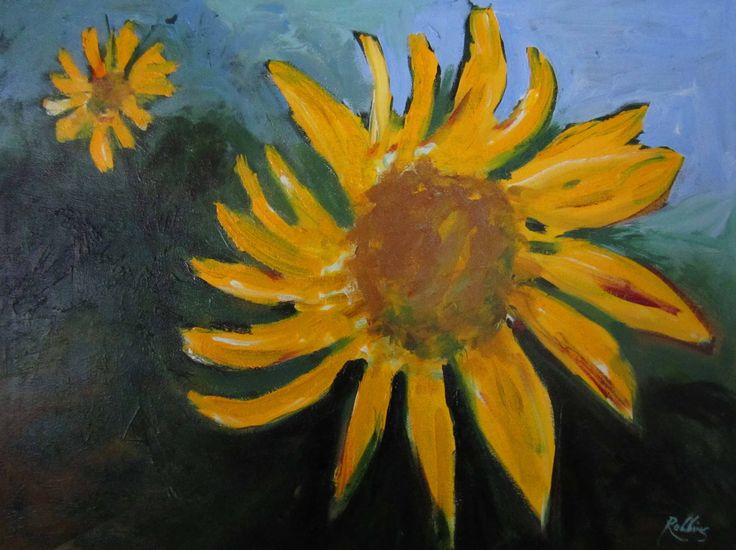 Sunflowers – oil on canvas