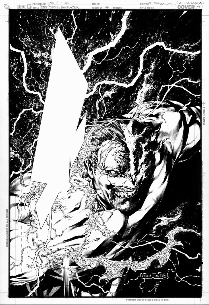 Final Crisis: Rev. Cover 4  - Pencil by Philip Tan & Ink by Jonathan Glapion