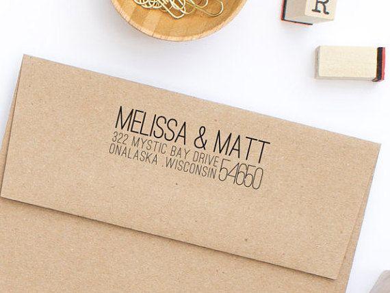 Custom Address Stamp Return Address Stamp by HelloWorldStamps