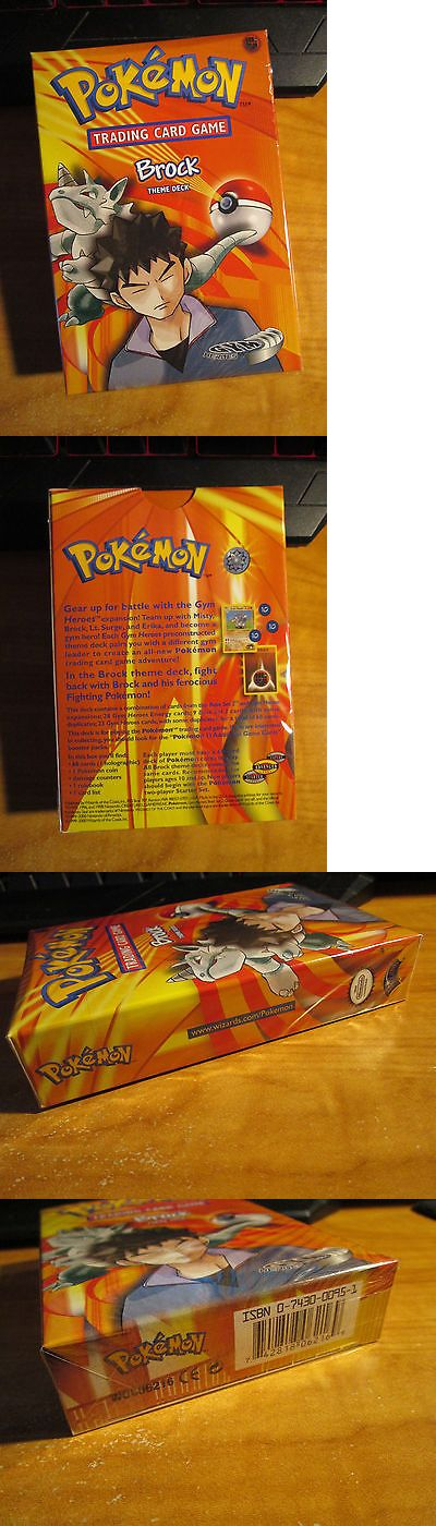 Pok mon Complete Sets 104046: Sealed Complete Pokemon Brock S Card Gym Hero Set Theme Deck Preconstructed Tcg -> BUY IT NOW ONLY: $69.99 on eBay!