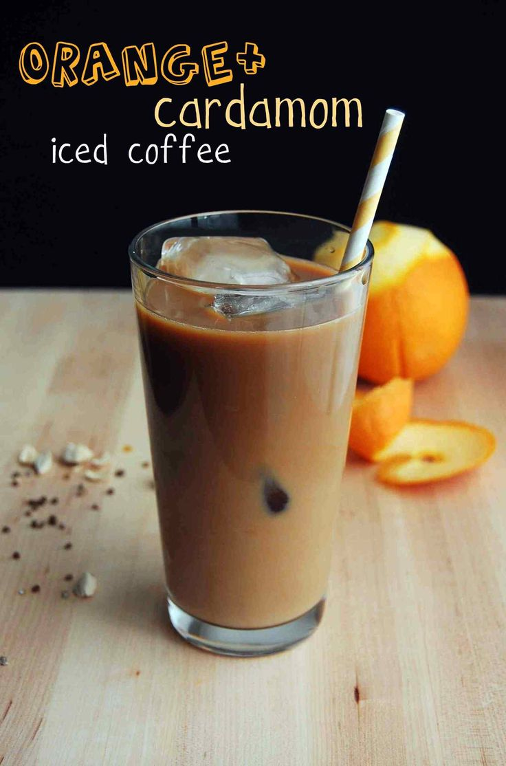 Orange and Cardamom Infused Cold-Brewed Coffee