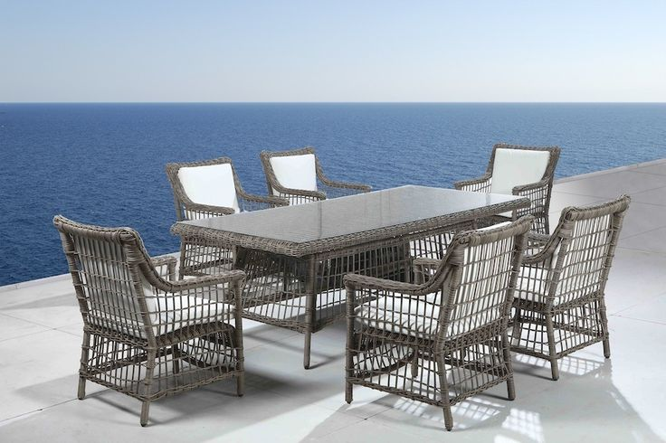 rattan wicker dining set outdoor furniture patio table