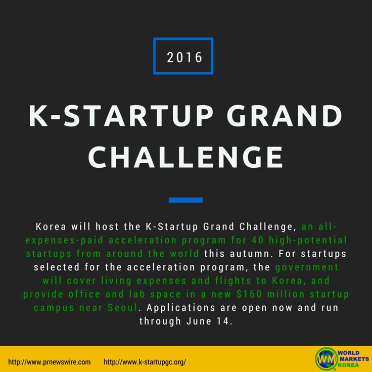 [K-Startup Grand Challenge]  For more information, visit the link below for an article and visit the website as well!  ▶http://www.prnewswire.com/news-releases/korea-opens-its-doors-and-wallet-to-startups-eying-asia-300267719.html ▶http://www.k-startupgc.org/  #WorldMarketsKorea #startup #스타트업 #southkorea #kstartupgrandchallenge #accelerationprogram